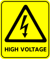 image warning of high voltage